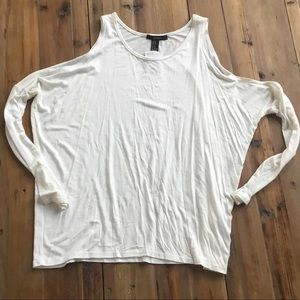 NWT Forever 21 White Cold Shoulder Long sleeve